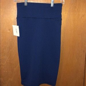 Lularoe NWT Cassie Pencil Skirt Blue and Black
